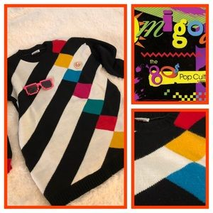 Sweaters - Vintage 80's Color Block Sweater